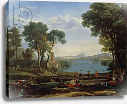 Постер Лоррен Клод (Claude Lorrain) Landscape with the Marriage of Isaac and Rebekah 1648
