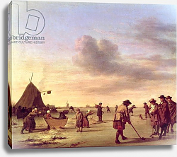 Постер Велде Адриан Golfers on the Ice near Haarlem, 1668