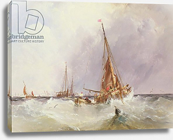 Постер Чамберс Джордж Shipping in the Solent, 19th century