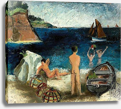 Постер Вуд Кристофер Bathers by the Sea, Treboul, 1930
