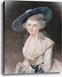 Постер Рейнолдс Джошуа (последователи) The Honourable Miss Binghamengraved by Francesco Bartolozzi published by E. M. Diemar, 1786