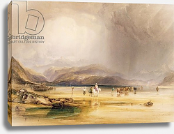 Постер Филдинг Энтони View from Snowdon from Sands of Traeth Mawe, taken at the Ford between Pont Aberglaslyn, 1834