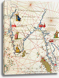 Постер Агнес Батиста (карты) India and Malaysia, from an Atlas of the World in 33 Maps, Venice, 1st September 1553