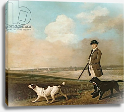 Постер Стаббс Джордж Sir John Nelthorpe, 6th Baronet out Shooting with his Dogs in Barton Field, Lincolnshire, 1776