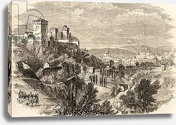 Постер Школа: Английская 19в. Granada and the Alhambra, illustration from 'Spanish Pictures' by the Rev. Samuel Manning