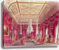 Постер Пайн Уильям (грав) The Crimson Drawing Room, Carlton House from Pyne's 'Royal Residences', 1818