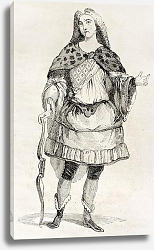 Постер Man in costume old illustration. Published on Magasin Pittoresque, Paris, 1842