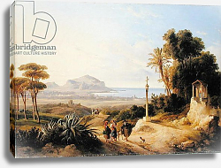 Постер Карелли Консалво View of Palermo, 1840