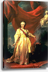 Постер Левицкий Дмитрий Portrait of Catherine the Great as Lawgiver in the Temple of the Goddess of Justice, early 1780s