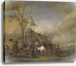 Постер Вауверман Филипс Departure of the Cavalrymen
