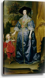 Постер Дик Энтони Queen Henrietta Maria and her dwarf Sir Jeffrey Hudson, c.1633