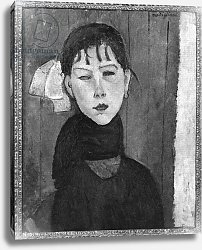 Постер Модильяни Амедео (Amedeo Modigliani) Marie, young woman of the people