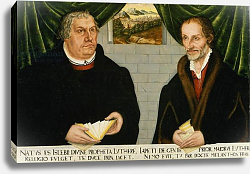 Постер Кранах Лукас Double Portrait of Martin Luther and Philip Melanchthon