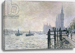 Постер Моне Клод (Claude Monet) The Thames below Westminster, 1871