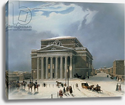 Постер Арнаут Луи (акв) The Bolshoi Theatre in Moscow, printed by Lemercier, Paris, 1840s