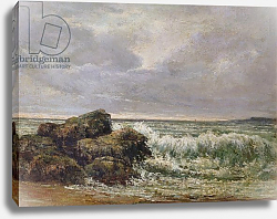 Постер Курбе Гюстав (Gustave Courbet) The Wave, 1869