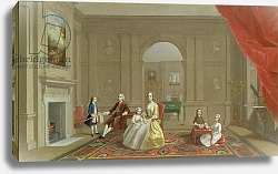 Постер Девис Артур The John Bacon Family, c.1742-43