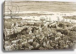 Постер Школа: Английская 19в. Boston, from Bunker's Hill, in c.1870, from 'American Pictures', 1876