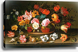 Постер Аст Балтазар Basket of flowers, 1625