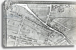 Постер Бретез Луи (карты) Plan of Paris, known as the 'Plan de Turgot', engraved by Claude Lucas, 1734-39 7