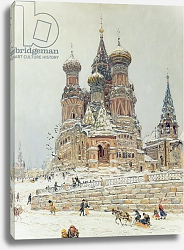 Постер Дубовской Николай St. Basil's Cathedral, Red Square, Moscow, c.1917