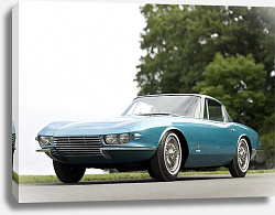 Постер Corvette C2 Rondine Coupe '1963 дизайн Pininfarina