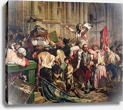 Постер Деларош Ипполит The Conquerors of the Bastille before the Hotel de Ville in 1789, 1839