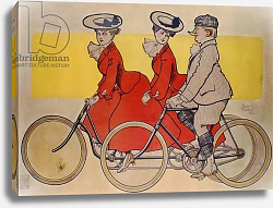 Постер Винсент Рене Man on a bicycle and women on a tandem, 1905