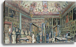 Постер Гоэбль Карл The Genealogy Room of the Ambraser Gallery in the Lower Belvedere, 1888