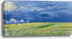 Постер Ван Гог Винсент (Vincent Van Gogh) Wheatfields under Thunderclouds, 1890