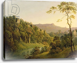 Постер Райт Джозеф View in Matlock Dale, Looking Towards Black Rock Escarpment, c.1780-5