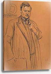 Постер Серов Валентин Portrait of the Composer Alekandr Konstantinovich Glazunov, 1906