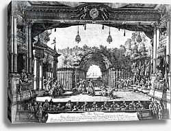 Постер A performance of 'Le Turc Genereux' in Vienna on 6th April 1758, published in 1759
