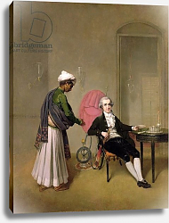 Постер Девис Артур Portrait of a Gentleman, possibly William Hickey, and an Indian Servant, c.1785