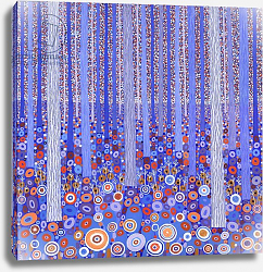 Постер Ньютон Давид (совр) Blue Orange Forest, 2015,