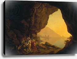 Постер Райт Джозеф A Grotto in the Kingdom of Naples, with Banditti, exh. 1778