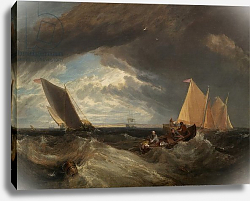 Постер Тернер Уильям (William Turner) The Junction of the Thames and the Medway, 1807