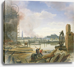 Постер Дженслер Якоб Hamburg After the Fire, 1842