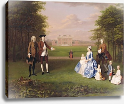 Постер Девис Артур Robert Gwillym of Atherton and his Family, c.1745-7