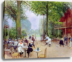 Постер Бакст Леон The Chalet du Cycle in the Bois de Boulogne, c.1900