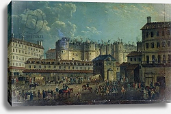 Постер Демаки Пьер Demolition of the Bastille in 1789