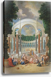 Постер Котель Джин Младший The Groves of Versailles. View of the Colonnade with Apollo and the Nymphs