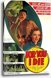 Постер Film Noir Poster - For You I Die