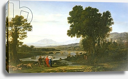 Постер Лоррен Клод (Claude Lorrain) Landscape with Jacob and Laban and Laban's Daughters, 1654
