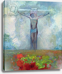 Постер Редон Одилон The Crucifixion, c.1910