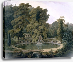 Постер Даниель Томас (грав) Temple, Fountain and Cave in Sezincote Park, 1819
