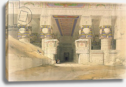 Постер Робертс Давид Facade of the Temple of Hathor, Dendarah, from 'Egypt and Nubia'