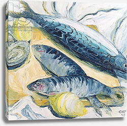 Постер Хаббард-Форд Кэролин Mackerel with Oysters and Lemons, 1993