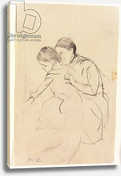 Постер Кассат Мэри (Cassatt Mary) Baby with Left Hand Touching a Tub, Held by Her Nurse, c.1891