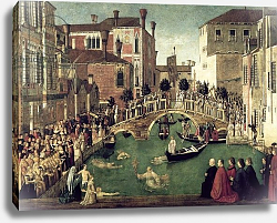 Постер Беллини Джованни The Miracle of the Cross on San Lorenzo Bridge, 1500